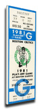 1981 NBA World Championship Mega Ticket - Boston Celtics Stretched Canvas Print