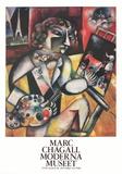 L'Autoportrait Aux Sept Doigts Collectable Print by Marc Chagall