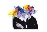 Intimacy on Display Giclee-tryk i høj kvalitet af Agnes Cecile