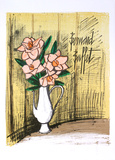 Bouquet de Fleurs Collectable Print by Bernard Buffet