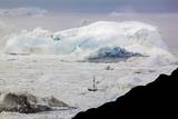 A Boat Sailing on the Pack Ice, Disko Bay, Ilulissat, Groenland Photographic Print by Françoise Gaujour