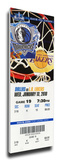 Dirk Nowitski 20,000 Point Game Mega Ticket - Dallas Mavericks Stretched Canvas Print