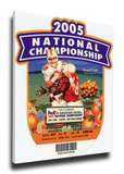 2005 BCS National Championship Game Mega Ticket - USC Trojans Stretched Canvas Print