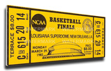 1982 NCAA Basketball Finals Mega Ticket - North Carolina Tar Heels Stretched Canvas Print