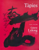 Black and Red, Galerie Lelong Reproductions de collection par Antoni Tapies