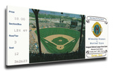 Milwaukee Brewers 1998 Opening Day / First National League Game Mega Ticket Stretched Canvas Print