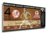 2003 ALCS Game 7 Mega Ticket - New York Yankees (Boone HR) Stretched Canvas Print