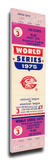1975 World Series Mega Ticket - Cincinnati Reds Stretched Canvas Print