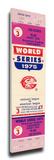 1975 World Series Mega Ticket - Cincinnati Reds Stretched Canvas Print