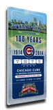 Wrigley Field 100th Anniversary Game Mega Ticket - Chicago Cubs Reproducción en lienzo de la lámina