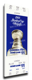 1988 NHL Stanley Cup Mega Ticket - Edmonton Oilers Stretched Canvas Print