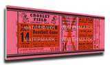 1953 MLB All-Star Game Mega Ticket - Reds Host - Crosley Field Stretched Canvas Print