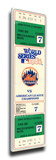 1986 World Series Game 7 Mega Ticket - New York Mets Stretched Canvas Print