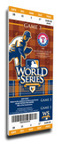 2010 World Series Mega Ticket - Texas Rangers (First World Series) Stretched Canvas Print