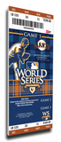 2010 World Series Mega Ticket - San Francisco Giants Stretched Canvas Print