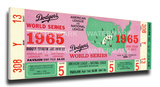 1965 World Series Mega Ticket - Los Angeles Dodgers Stretched Canvas Print