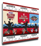 2011 MLB All-Star Game Mega Ticket Strip - Arizona Diamondbacks - MVP Prince Fielder Stretched Canvas Print