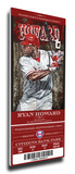 Ryan Howard Artist Series Mega Ticket - Philadelphia Phillies Stretched Canvas Print