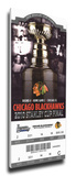 2010 NHL Stanley Cup Mega Ticket - Chicago Blackhawks Stretched Canvas Print