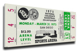 1975 NCAA Basketball Finals Mega Ticket - UCLA Bruins Stretched Canvas Print