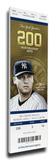 Derek Jeter Final Opening Day Mega Ticket - New York Yankees Stretched Canvas Print