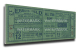 1949 MLB All-Star Game Mega Ticket - Dodgers Host - Ebbets Field Stretched Canvas Print