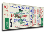 1970 World Series Mega Ticket - Baltimore Orioles Stretched Canvas Print