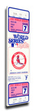 1982 World Series Mega Ticket - St Louis Cardinals Stretched Canvas Print