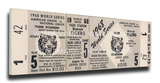 1968 World Series Mega Ticket - Detroit Tigers Stretched Canvas Print