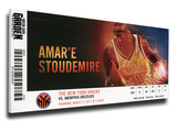 Amar'e Stoudemire Mega Ticket - New York Knicks Stretched Canvas Print