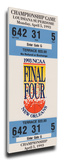 1993 Final Four Mega Ticket - North Carolina Tarheels Stretched Canvas Print