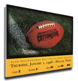 1998 Cotton Bowl Mega Ticket - UCLA Bruins Stretched Canvas Print