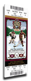 2011 NHL Heritage Classic Mega Ticket - Canadiens vs Flames Stretched Canvas Print