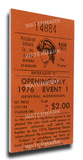 Pittsburgh Pirates 1976 Opening Day Mega Ticket Stretched Canvas Print
