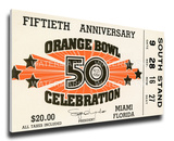 1984 Orange Bowl Mega Ticket - Miami Hurricanes Stretched Canvas Print