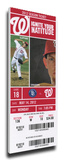 Bryce Harper First Home Run Mega Ticket - Washington Nationals Stretched Canvas Print