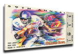 1993 Orange Bowl Mega Ticket - Florida State Seminoles Stretched Canvas Print