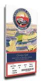 Washington Nationals 2008 Opening Night / First Game at Nationals Park Mega Ticket Stretched Canvas Print