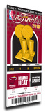 2013 NBA Finals Mega Ticket - Miami Heat Stretched Canvas Print