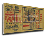 1933 World Series Mega Ticket - New York Giants Stretched Canvas Print