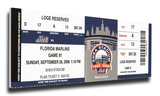Final Game at Shea Stadium Mega Ticket - New York Mets Stretched Canvas Print