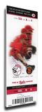 Homer Bailey Second No-Hitter Mega Ticket - Cincinnati Reds Stretched Canvas Print