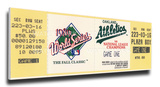 1989 World Series Mega Ticket - Oakland A's Stretched Canvas Print