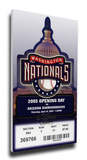 Washington Nationals 2005 Opening Day / Inaugural Game Mega Ticket Stretched Canvas Print