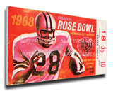 1968 Rose Bowl Mega Ticket - UCLA Bruins Stretched Canvas Print