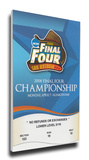 2008 Final Four Mega Ticket - Kansas Jayhawks Stretched Canvas Print