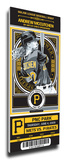 Andrew McCutchen Artist Series Mega Ticket - Pittsburgh Pirates Stretched Canvas Print