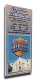 1998 Final Four Mega Ticket - Kentucky Wildcats Stretched Canvas Print