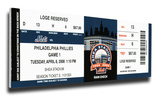 2008 Final Opening Day at Shea Stadium Mega Ticket - New York Mets Stretched Canvas Print