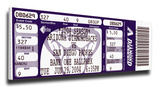 Randy Johnson 4,000 Strike Out Mega Ticket - Diamondbacks Stretched Canvas Print